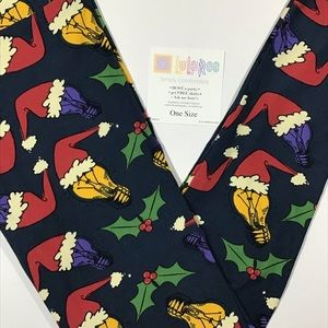 New In Package LuLaRoe Holiday Leggings OS